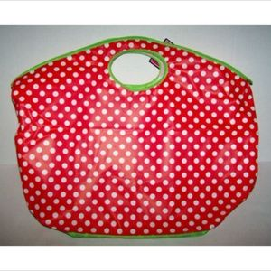 Red with White Dots Tote Bag Christmas Tote NWT